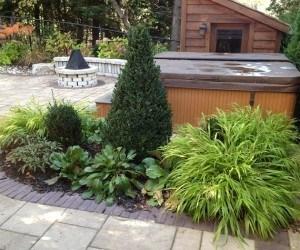 Portfolio : Small garden by hot tub