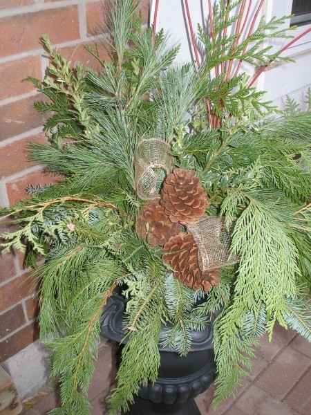 Simple Evergreen Urn