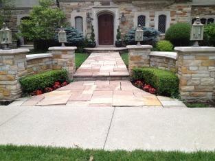 stone walkway and wall