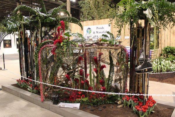 Hockey Themed Floral Display