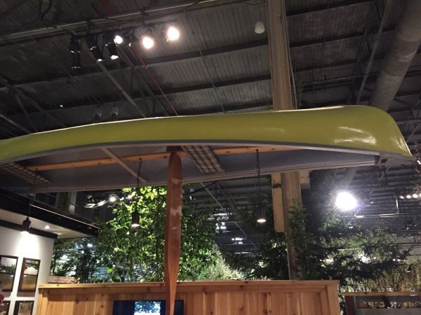 Canada Blooms Garden with Hanging Canoe
