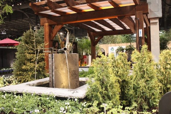 Canada Blooms 2017 Water Features with instruments