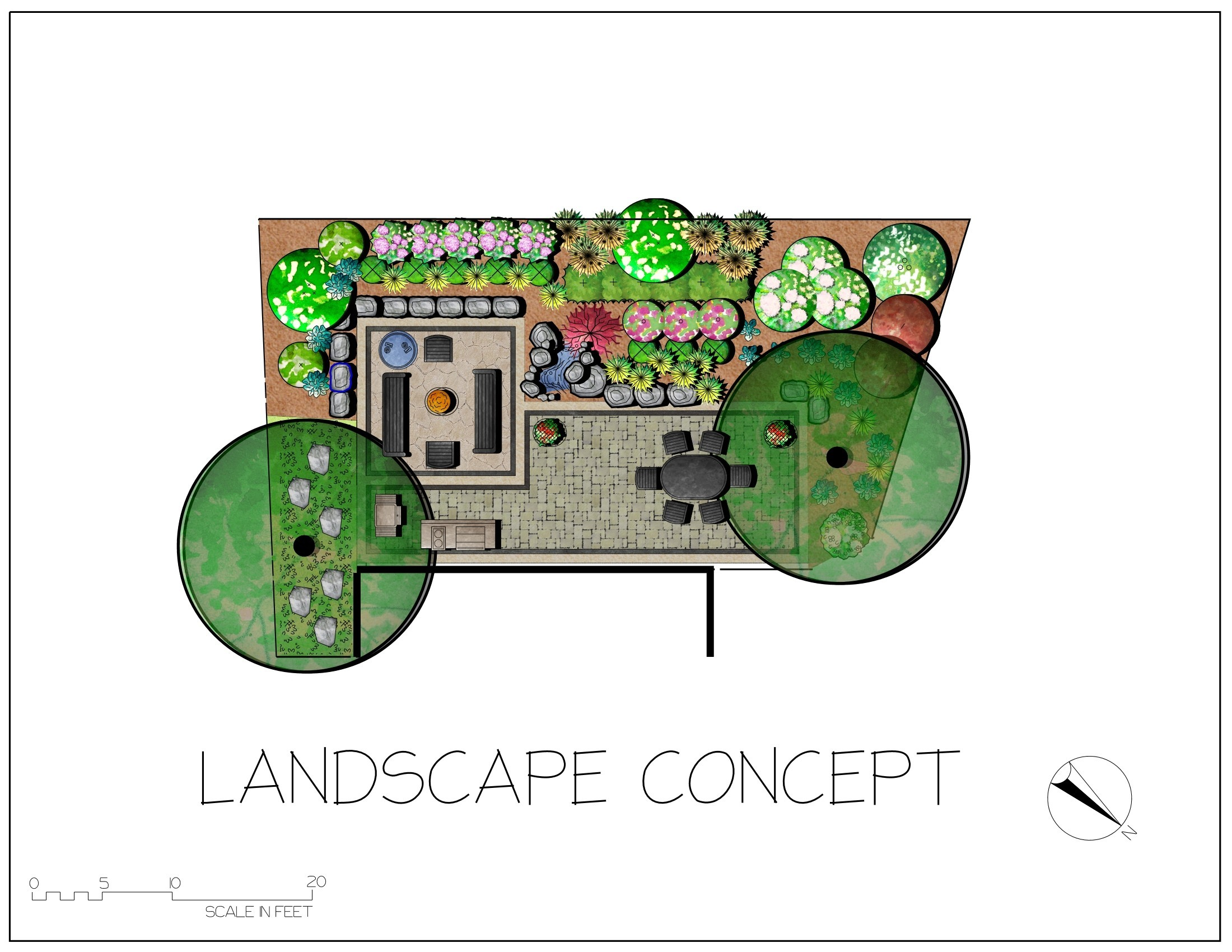 Colored computer generated designs down 2 earth for Computer landscape design