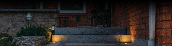 Landscape Lighting on the steps